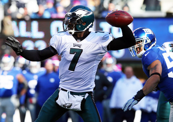Philadelphia Eagles quarterback Michael Vick.