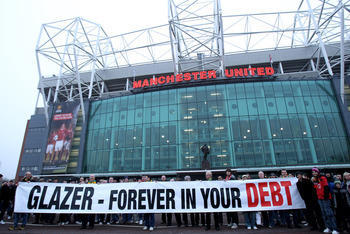 Old Trafford Glazers Protest