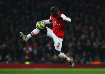 Bacary Sagna faces competition from Carl Jenkinson.