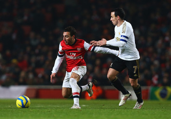 Santi Cazorla can be a magician with the ball.