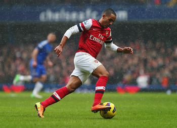 Theo Walcott is Arsenal's top scorer.