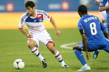 Lyon midfielder Yoann Gourcuff has been hampered by injuries this season.