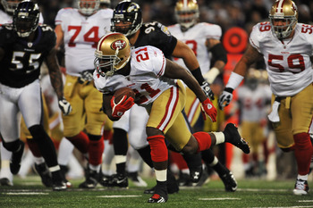 San Francisco will need a big game from Frank Gore against the Ravens.