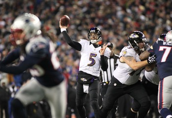 Joe Flacco stays cool and calm in the face of huge pressure.
