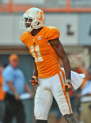 "Justin Hunter has the size (6'4"" and 205 pounds) and speed to be a difference maker for Minnesota."