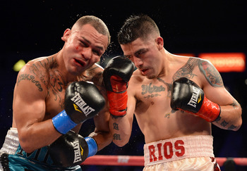 Rios toughed it out against Alvarado but he got a win he didn't deserve over Richard Abril.