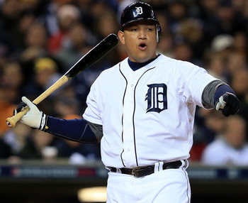 Miguel Cabrera led the league in batting average, home runs and RBIs last season, but it did not earn the Detroit Tigers a World Series ring.