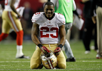 The look on LaMichael James' face paints the picture of one happy rookie.