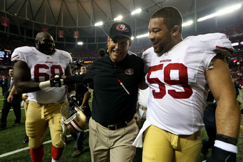 The 49ers plan on making Jim Harbaugh smile just one more time at game's end.