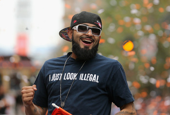 Sergio Romo has a pretty fearsome beard of his own.