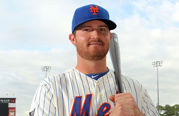 PORT ST. LUCIE, FL - MARCH 02:  RCH 02: Reese Havens #74 of the New York Mets poses for photos during MLB photo day on March 2, 2012 in Port St. Lucie, Florida.  (Photo by Marc Serota/Getty Images)