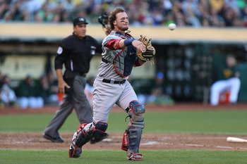 Saltalamacchia would compliment Napoli's right hand bat at first.