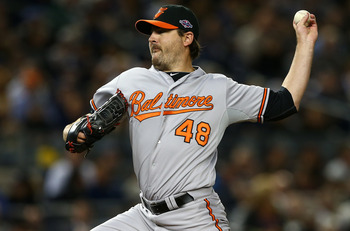 Left-hander Joe Saunders could be brought back to bolster the Orioles staff.