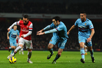 West Ham struggled to get to grips with Santi Cazorla.