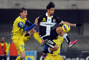 Chievo (in yellow) will hope that youth and experience can continue to blend