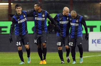 The assured performances that Fredy Guarin (second left) has been delivering  have enabled him to fill the void now that Wesley Sneijder has finally departed