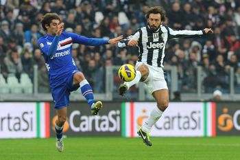 Andrea Poli (left) has been linked with a move to AC Milan - can Sampdoria keep hold of him until the end of the season?