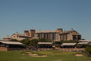 The magnificent clubhouse and hotel at TPC San Antonio.