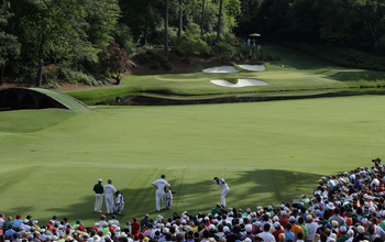 The world-famous 12th hole at Augusta National.