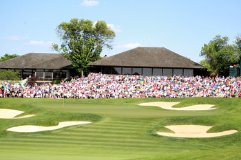 Few finishing holes require as much precision as the 18th at Muirfield Village.