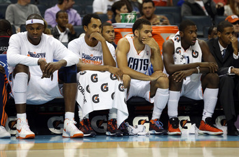 Bobcats players witness yet another loss.