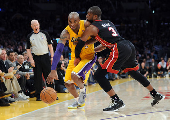 Kobe Bryant didn't have an easy time getting around Dwyane Wade in L.A.