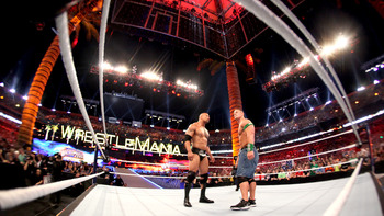 At WrestleMania, there was a ton of pressure on The Rock. This year, he'll have a few chances. Photo Courtesy of WWE.com