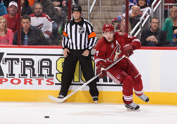 The Coyotes Radim Vrbata lead the team in scoring last season and will look to repeat the feat this year.