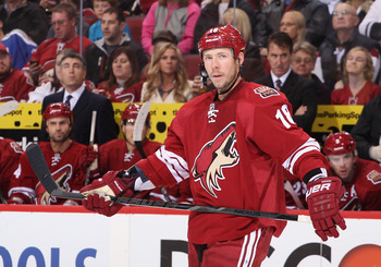 Moss was brought in to provide some secondary scoring for the Coyotes this season.