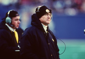 Legendary Steelers coach Chuck Noll.