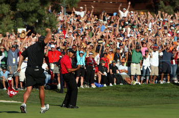 Was there ever a more dramatic moment than Tiger's birdie putt on the 72nd hole of the U.S. Open in 2008?