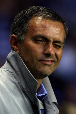 READING, UNITED KINGDOM - AUGUST 15:  Chelsea Manager Jose Mourinho looks prior to the Barclays Premiership match between Reading and Chelsea at the Madejski Stadium on August 15, 2007 in Reading, England  (Photo by Clive Rose/Getty Images)