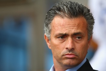 BIRMINGHAM, UNITED KINGDOM - SEPTEMBER 02:  Jose Mourinho the manager of Chelsea during the Barclays Premier League match between Aston Villa and Chelsea at Villa Park on September 02, 2007 in Birmingham, England.  (Photo by Mark Thompson/Getty Images)