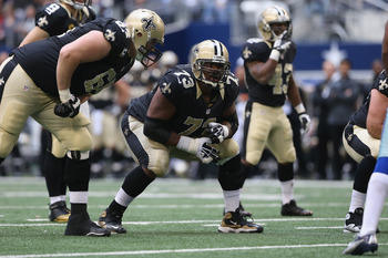 Jahri Evans is one of the offensive linemen Kromer tutored in New Orleans.