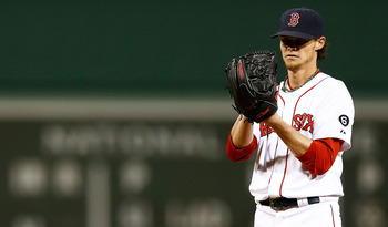 BOSTON, MA - SEPTEMBER 25:  Clay Buchholz #11 of the Boston Red Sox pitches against the Tampa Bay Rays during the game on September 25, 2012 at Fenway Park in Boston, Massachusetts.  (Photo by Jared Wickerham/Getty Images)