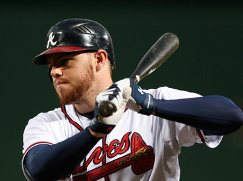 Braves 1B Freddie Freeman showed growth in his second year that was dimmed by a hand injury, eyesight issues and some bad luck... but his future looks bright