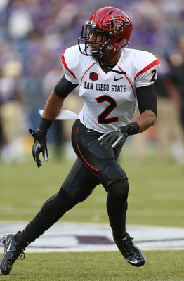 SEATTLE, WA - SEPTEMBER 01:  Defensive back Leon McFadden #2 of the San Diego State Aztecs warms up prior to the game against the Washington Huskies on September 1, 2012 at CenturyLink Field in Seattle, Washington.  (Photo by Otto Greule Jr/Getty Images)