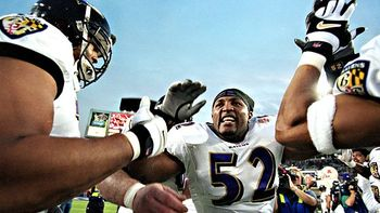 Ray Lewis anchored the nasty 2000 Baltimore defense.