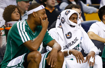 Pierce might be slacking on his costume because Rajon Rondo clearly has his ready to go