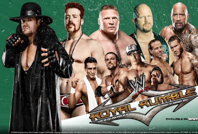 royal rumble 2013 promotional poster courtesy of wwemafia com