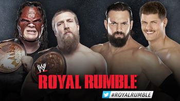 Team Hell No vs. Team Rhodes Scholars (Courtesy of WWE.com)