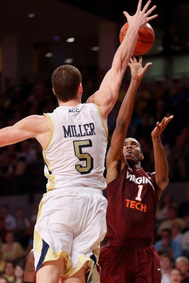 Center Daniel Miller leads the ACC in blocks.