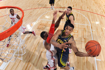 Wolverines G Trey Burke drives to the basket in Michigan's loss to Ohio State on Jan. 13.