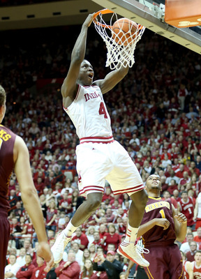 Oladipo finishes a dunk against the Gophers.
