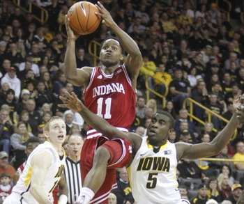 Ferrell attempts a runner in a tough road win at Iowa.
