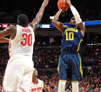 Tim Hardaway Jr. attempts a jump shot in a road loss to Ohio State.