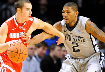 Newbill tries to contain Ohio State's Aaron Craft.