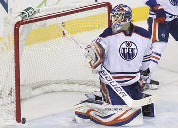 Devan Dubnyk has yet to really establish himself in net for the Oilers.