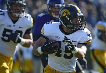 A fullback almost broke 1000 yards...it was that kind of year in Iowa City
