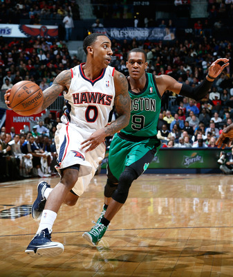 Jeff Teague is proving he can keep up with the NBA's elite guards.